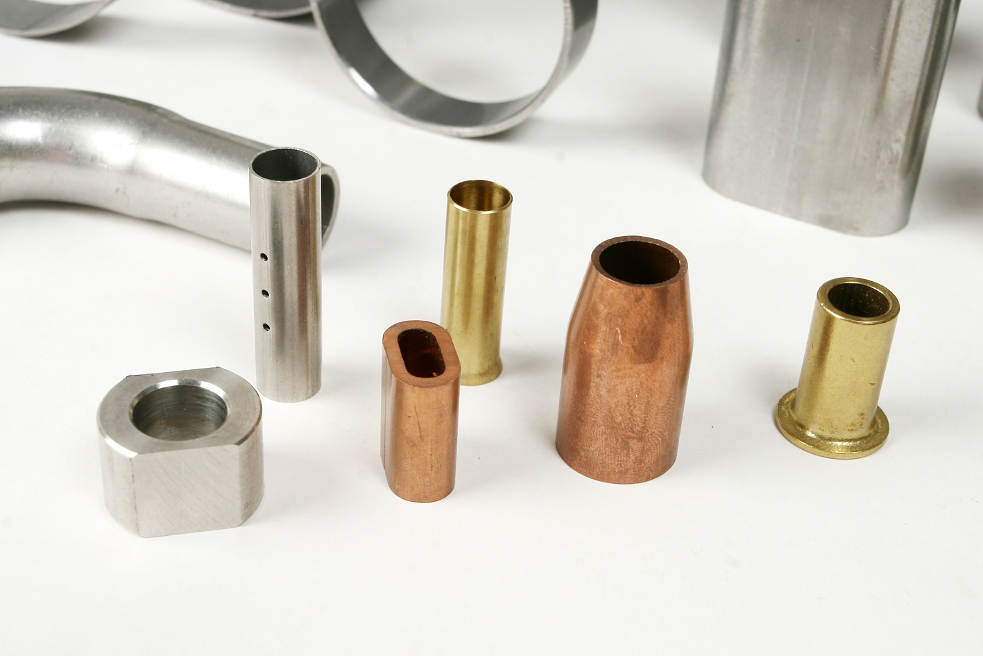 pipes copper aluminum stainless steel brass